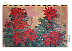 Red Poinsettias By George Wood Carry-all Pouch
