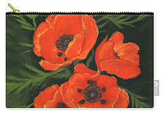Carry-all Pouch featuring the painting Red Poppies by Anastasiya Malakhova