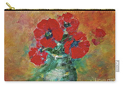 Red Poppies In A Vase Carry-all Pouch