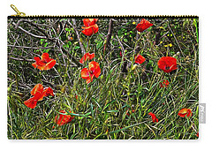 Red Poppies In The Hedgerow Carry-all Pouch