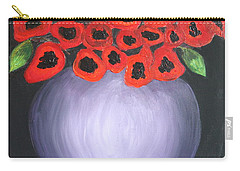 Carry-all Pouch featuring the painting Red Poppies  by Jolanta Anna Karolska