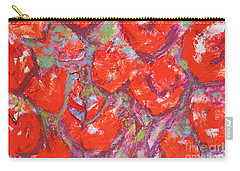 Red Poppies Carry-all Pouch by Gallery Messina