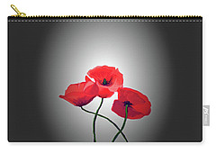 Red Poppies Carry-all Pouch by Lynn Bolt