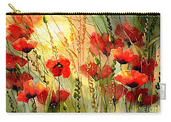 Red Poppies Watercolor Carry-all Pouch