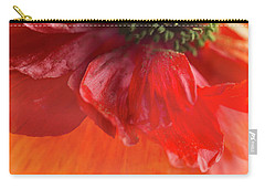 Red Poppy Carry-all Pouch by Elena Nosyreva