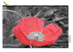 Red Poppy Flower Carry-all Pouch