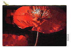 Carry-all Pouch featuring the digital art Red Poppy by Kirt Tisdale