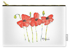 Red Poppy Play Carry-all Pouch