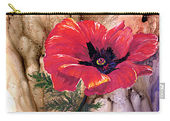 Carry-all Pouch featuring the painting Red Poppy by Sherry Shipley