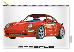 Red Porsche 993 1997 Twin Turbo R Carry-all Pouch