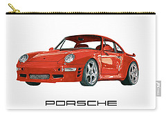 Red Porsche 993 1997 Twin Turbo R Carry-all Pouch by Jack Pumphrey