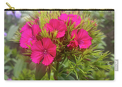 Red-purple Flower Carry-all Pouch