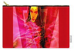 Red Queen Of Hearts Carry-all Pouch by Seth Weaver