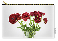 Carry-all Pouch featuring the photograph Red Ranunculus by Kim Hojnacki