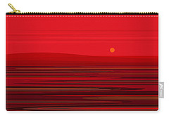 Carry-all Pouch featuring the digital art Red Ripple II by Val Arie