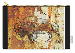 Carry-all Pouch featuring the photograph Red Rock Bison by Larry Campbell