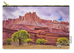 Red Rock Cougar Carry-all Pouch by Walter Colvin