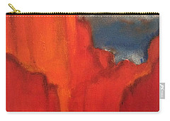 Carry-all Pouch featuring the painting Red Rocks by Kim Nelson