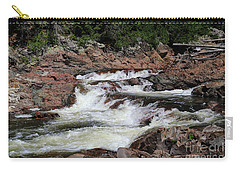 Carry-all Pouch featuring the photograph Red Rocks Of Chippewa Falls by Rachel Cohen