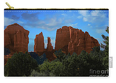 Red Rocks Of Sedona Arizona Carry-all Pouch by Anne Rodkin