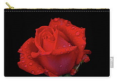 Carry-all Pouch featuring the photograph Red Rose 013 by George Bostian