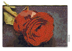 Red Rose Abstract Carry-all Pouch by Shirley Stalter