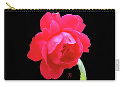 Red Rose Cutout Carry-all Pouch