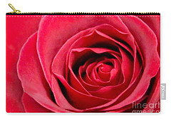 Carry-all Pouch featuring the photograph Red Rose by DJ Florek