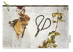 Carry-all Pouch featuring the photograph Red Rose Frozen by Anna Louise
