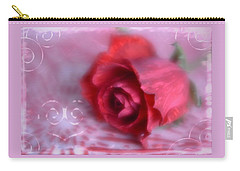 Carry-all Pouch featuring the photograph Red Rose Love by Diane Alexander