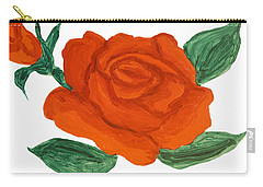 Red Rose, Painting Carry-all Pouch by Irina Afonskaya