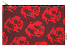 Red Rose Pattern Carry-all Pouch by Cortney Herron