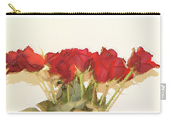 Red Roses Under Glass Carry-all Pouch