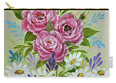 Carry-all Pouch featuring the painting Red Roses Alla Prima by Jimmie Bartlett