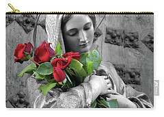 Red Roses Carry-all Pouch by Munir Alawi