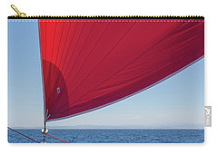 Carry-all Pouch featuring the photograph Red Sail On A Catamaran 2 by Clare Bambers
