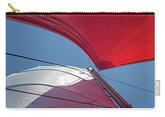 Carry-all Pouch featuring the photograph Red Sail On A Catamaran 3 by Clare Bambers