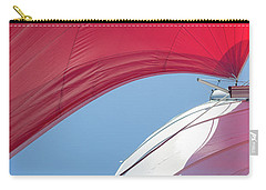 Carry-all Pouch featuring the photograph Red Sail On A Catamaran 4 by Clare Bambers