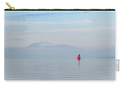 Red Sailboat On Lake Carry-all Pouch