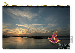 Carry-all Pouch featuring the photograph Red Sails In The Sunset by Carol Lynn Coronios