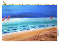 Carry-all Pouch featuring the painting Red Sails by Winsome Gunning