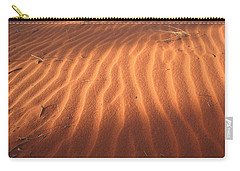 Carry-all Pouch featuring the photograph Red Sand Dune Ripples In Detail by Keiran Lusk