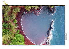 Red Sand Heart Carry-all Pouch