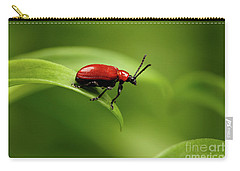 Red Scarlet Lily Beetle On Plant Carry-all Pouch