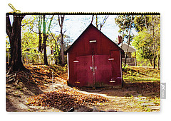 Carry-all Pouch featuring the photograph Red Shed by Randy Sylvia