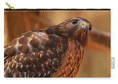 Carry-all Pouch featuring the digital art Red Shouldered Hawk 1  by Chris Flees