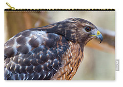 Red Shouldered Hawk 2 Carry-all Pouch by Chris Flees