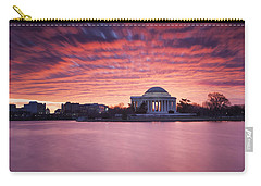 Carry-all Pouch featuring the photograph Red Skies At Dawn by Edward Kreis