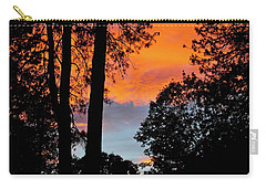 Carry-all Pouch featuring the photograph Red Sky At Night by Michele Myers