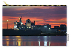 Red Sky At Night Over Port Of Tampa Carry-all Pouch